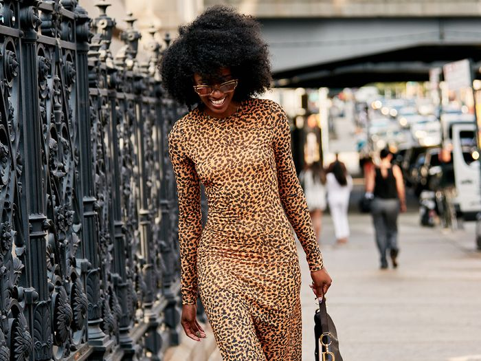 Animal Print Dress Street Style