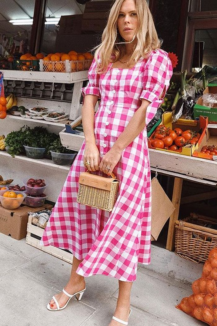 kitri lenora dress: we the people style wearing the checked pink and white lenora dress