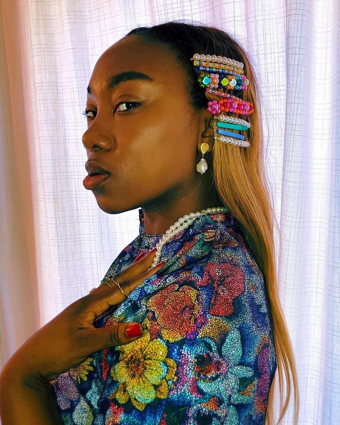 How to style hair accessories: Nnenna Chem layering up hair slides
