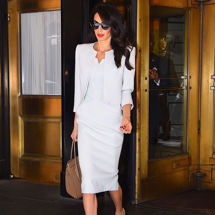 The Amal Clooney Capsule Wardrobe: 7 Pieces, Endless Outfits