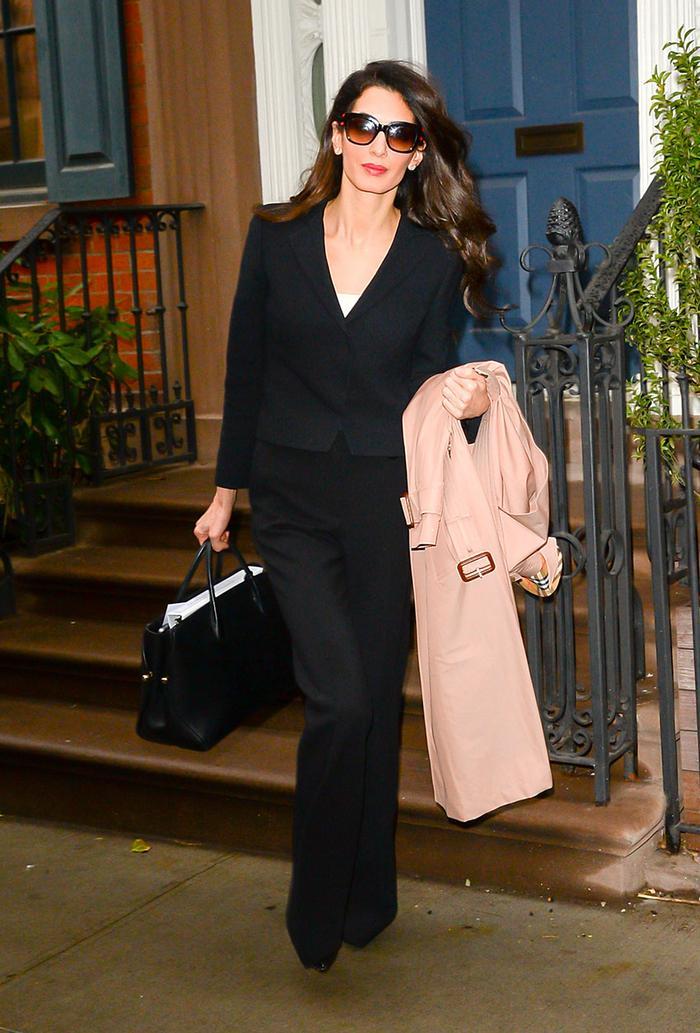 Amal Clooney Wearing a Blazer