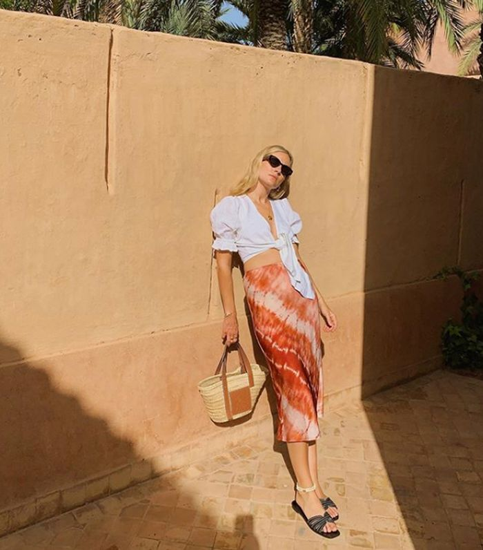 Mango tie dye skirt: Lucy Williams on holiday