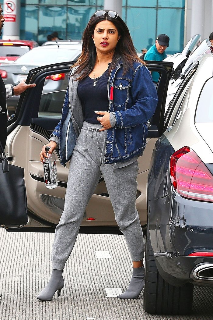 Priyanka Chopra airport shoes