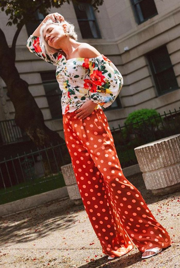 Zara micro-trends: Floral off-the-shoulder top and trousers