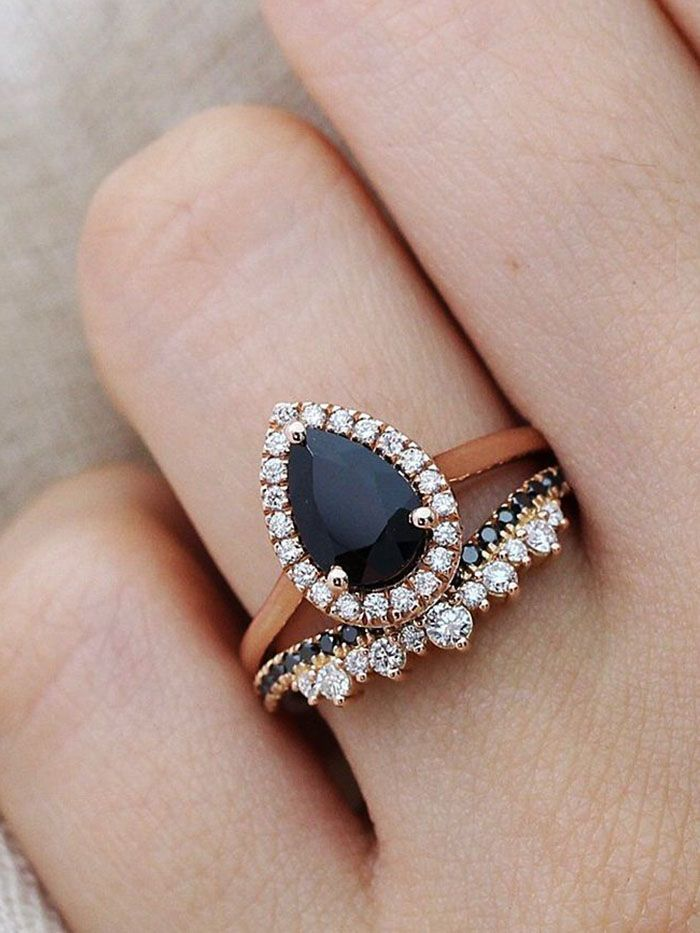 25 Stunning Black Diamond Engagement Rings Who What Wear