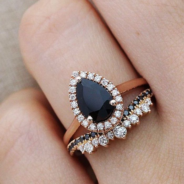 9 Stunning Black Diamond Engagement Rings  Who What Wear