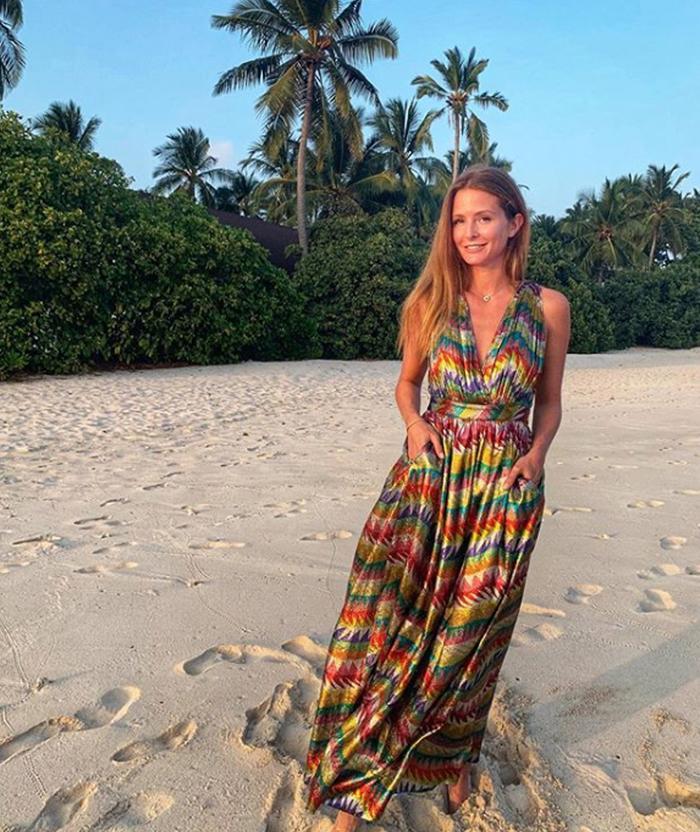 Best summer wedding guest dresses: Millie Mackintosh on the beach