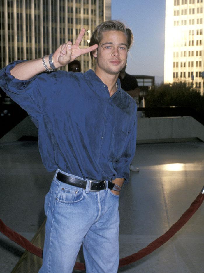 Brad Pitt '90s style jeans
