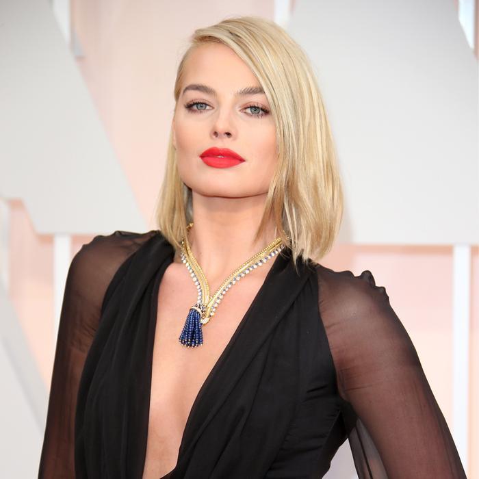 Margot Robbie in the zip necklace