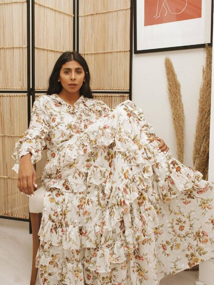 best summer maxi dresses uk: monikh in a maxi dress
