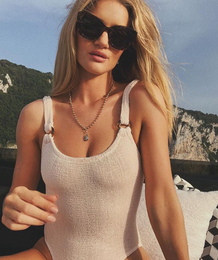 Rosie Huntington Whiteley Hunza G swimsuit: