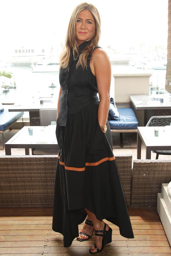 Jennifer Aniston wedge-heel shoes