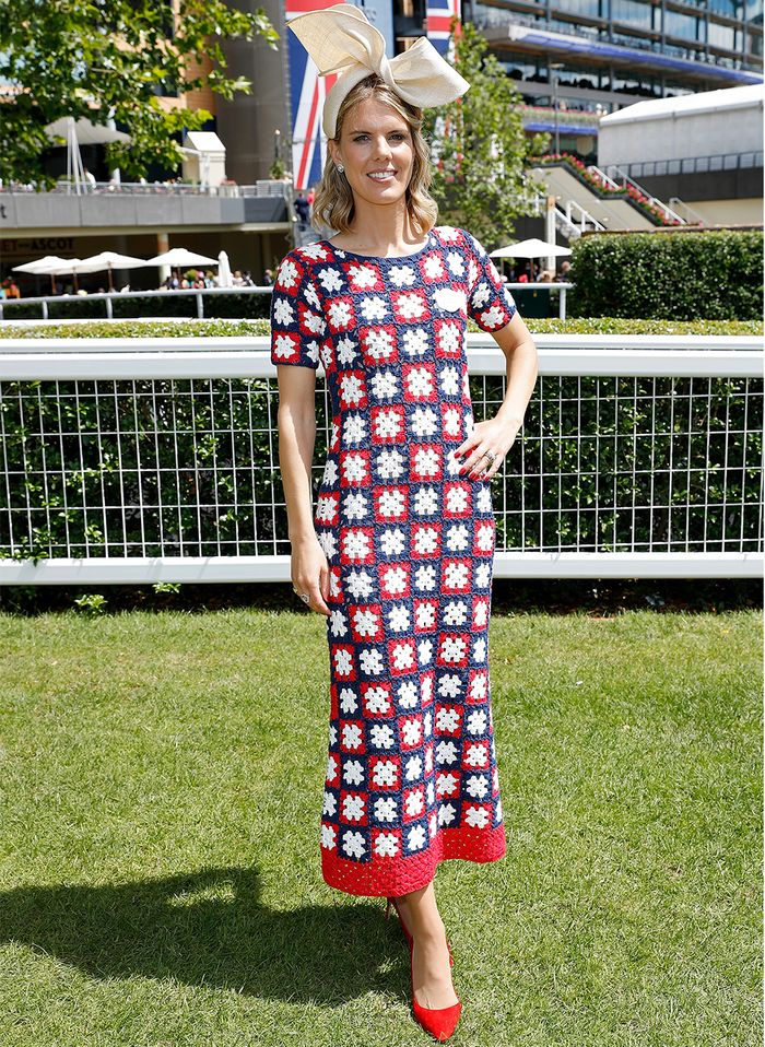 Ascot outfits 2019: Ginnie Chadwyck healey in Staud dress