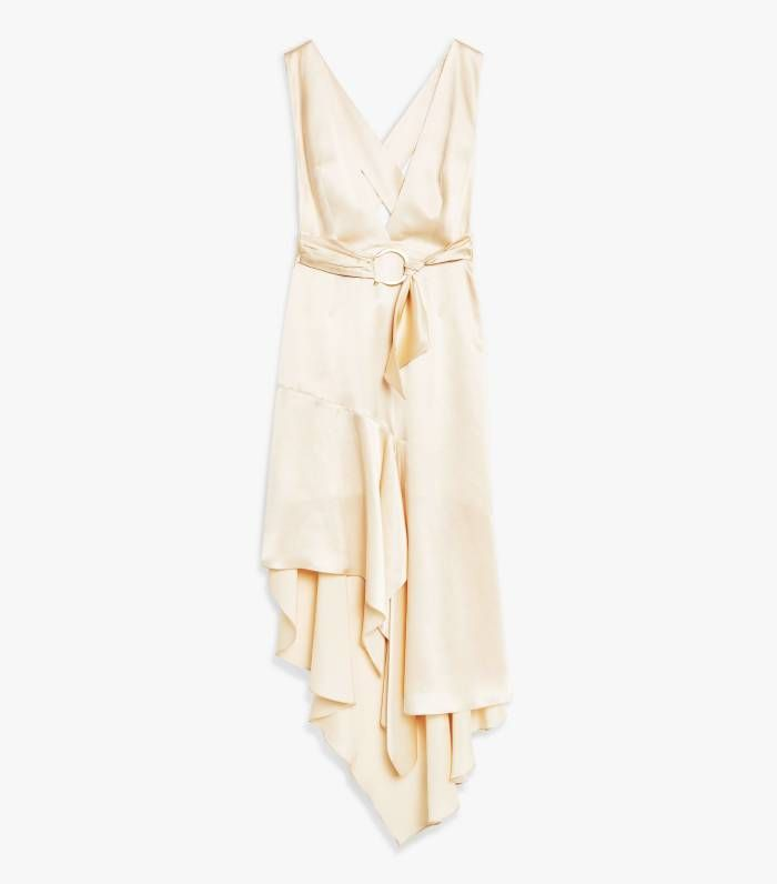 Topshop Plain Scarf Pinafore Dress