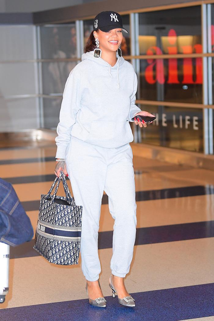 Rihanna airport heels