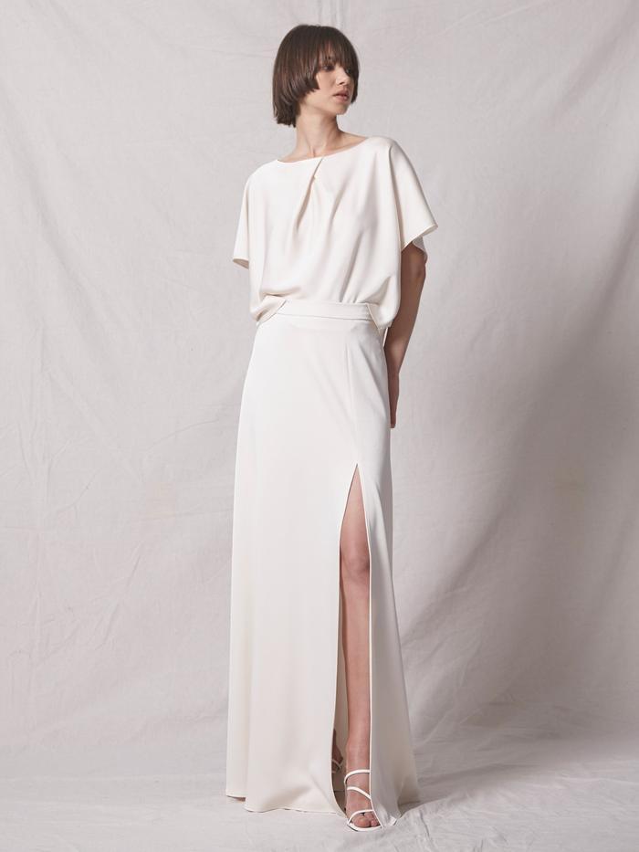 Allen Schwartz Arrowe Satin Maxi Skirt