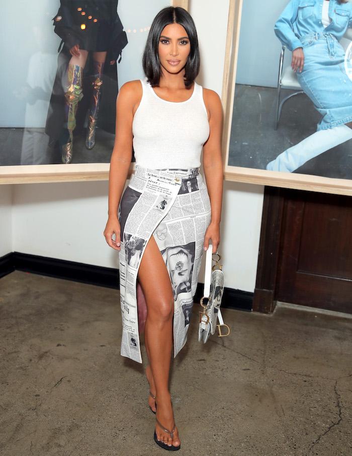 Kim Kardashian West wearing flip-flop heels