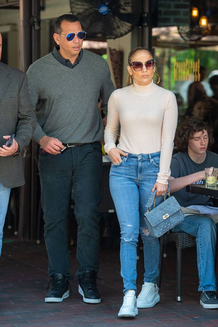 Jennifer Lopez Turtleneck and Jeans