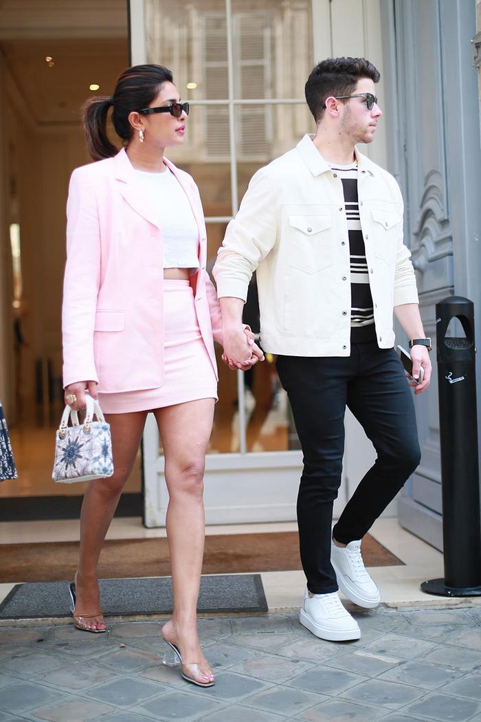 Priyanka Chopra and Nick Jonas Paris outfits