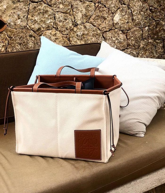 Best canvas and linen bags: Loewe bag