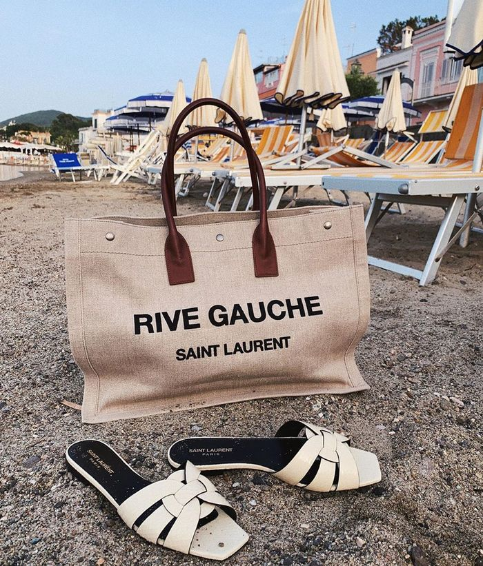 Best canvas and linen bags: Saint Laurent bag