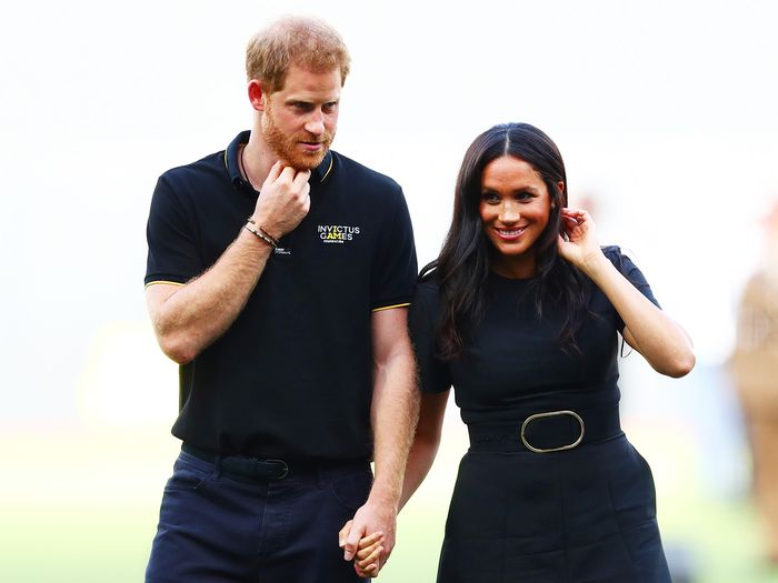 Meghan Markle and Prince Harry, baseball game
