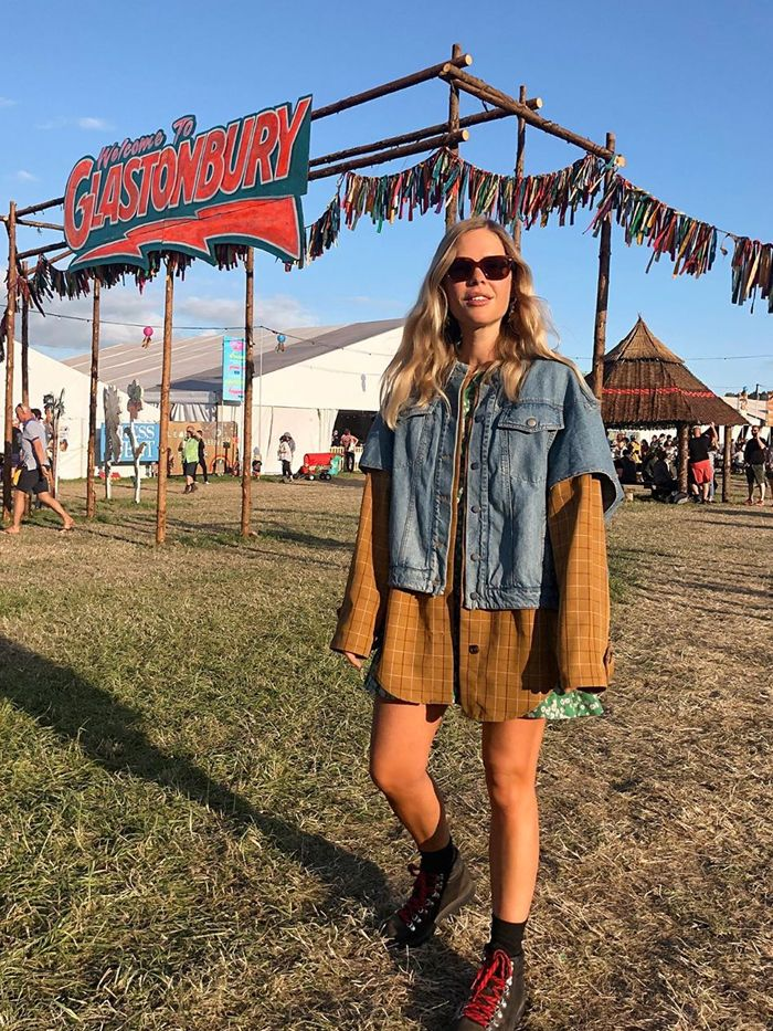 music festival outfits: we the people style at glastonbury
