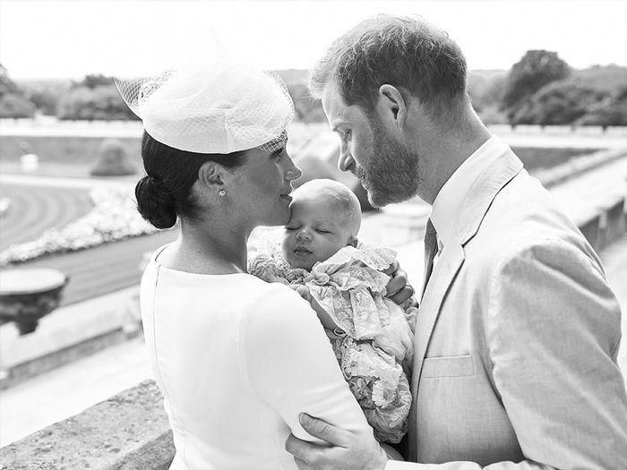Archie royal Christening photos: Meghan, Harry and Archie