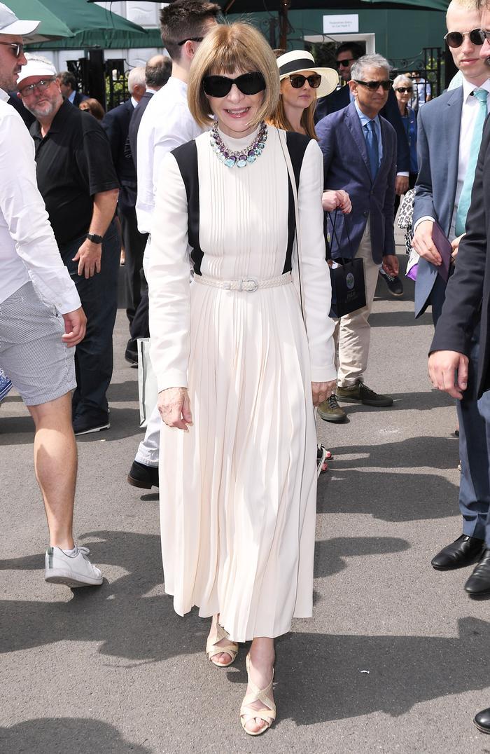 Anna Wintour at Wimbledon