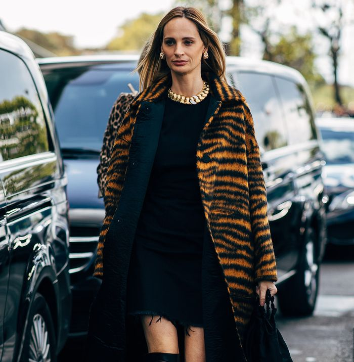 Zebra Street Style Lauren Santo Domingo