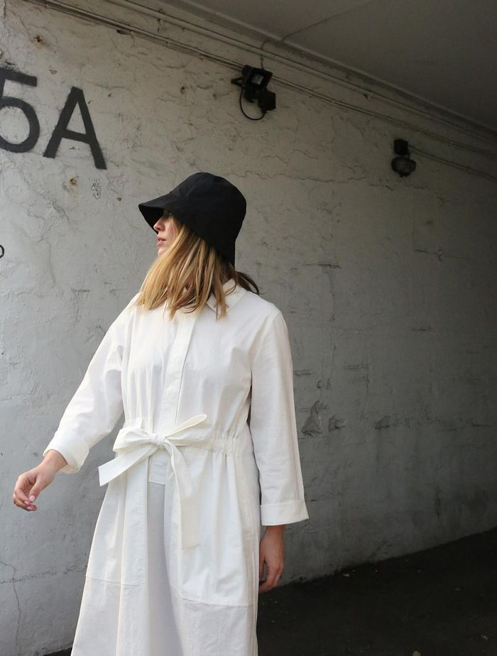 Boring Accessory Trends: Alexis Foreman wears a bucket hat