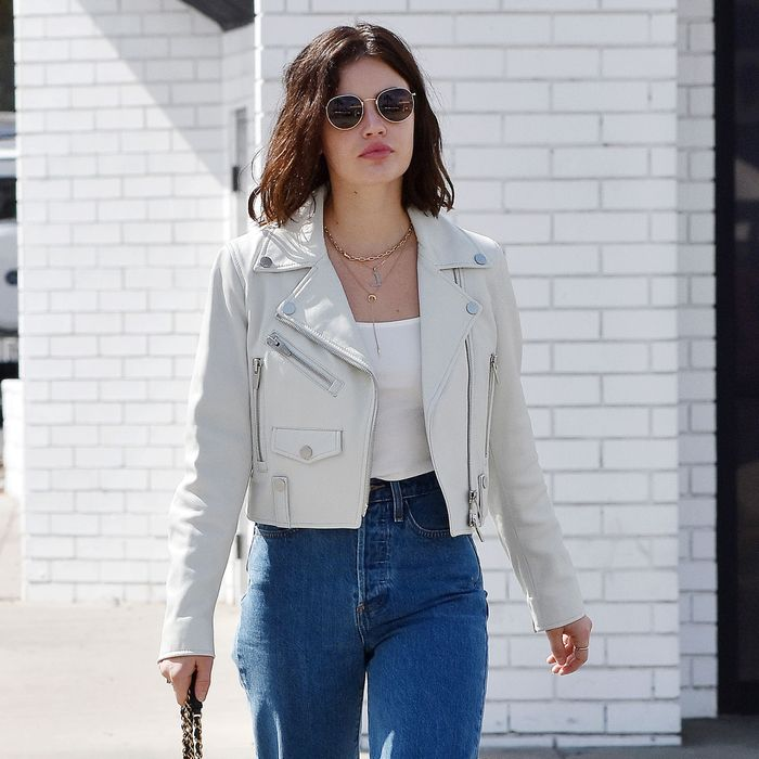 Lucy Hale anti-skinny jean outfits