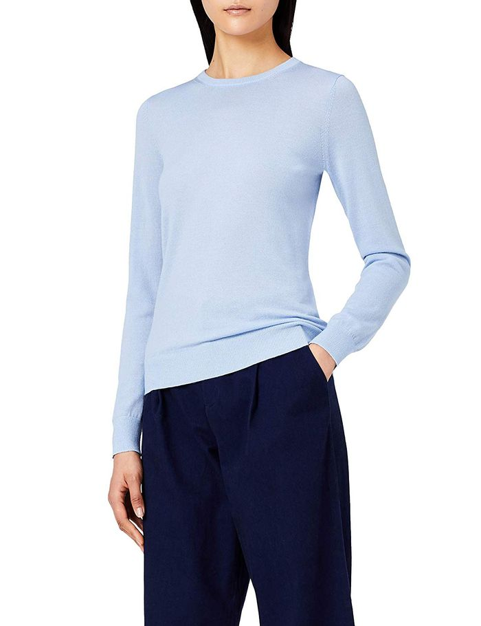 Meraki Fine Merino Wool Crew Neck Sweater