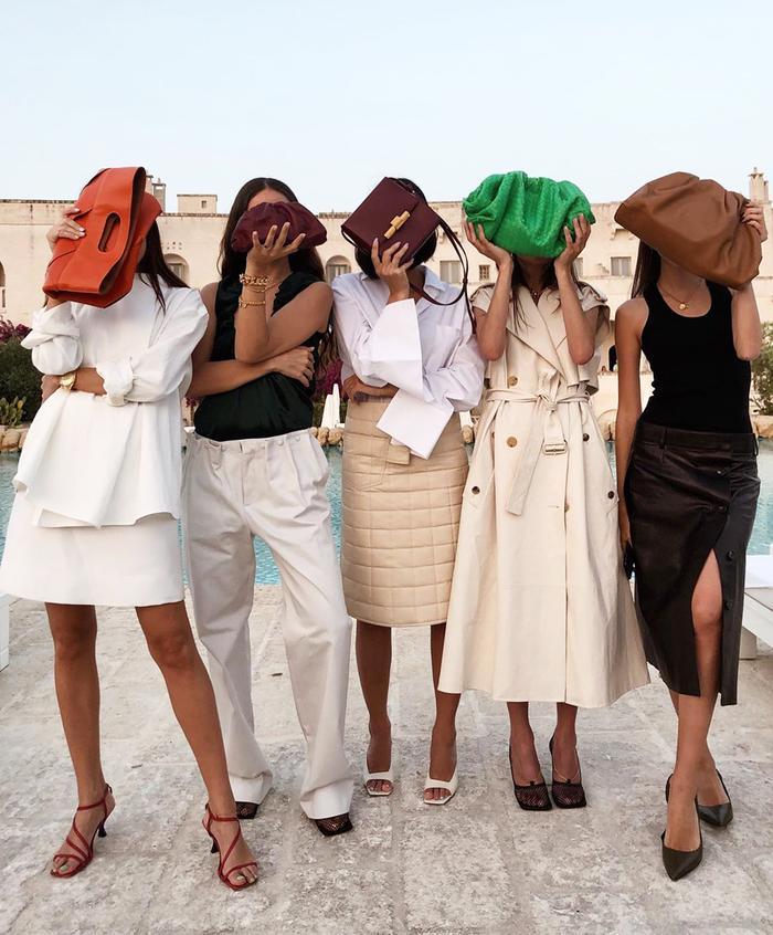 Best bottega Veneta pieces: Pouch bags