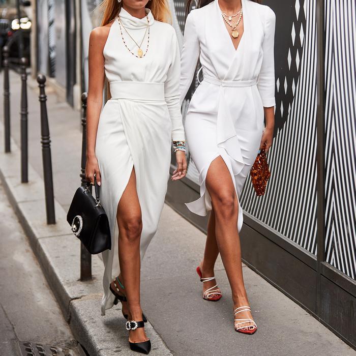 White Dresses Paris Street Style