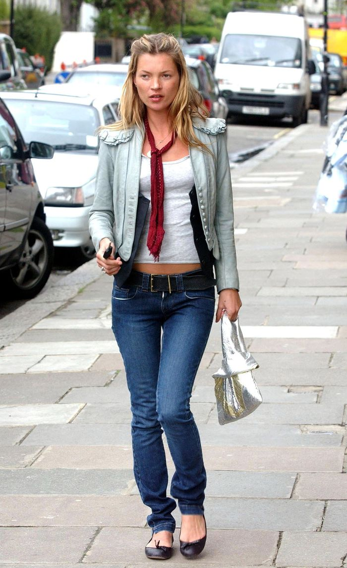 Celebrities wearing ballet pumps: Kate moss in the 00s