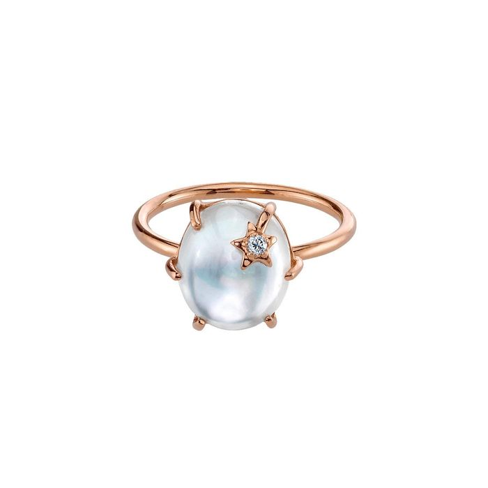 Andrea Fohrman Mini Galaxy Mother of Pearl Ring