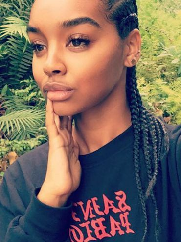 Braided Hairstyles: Simone wearing braided hair