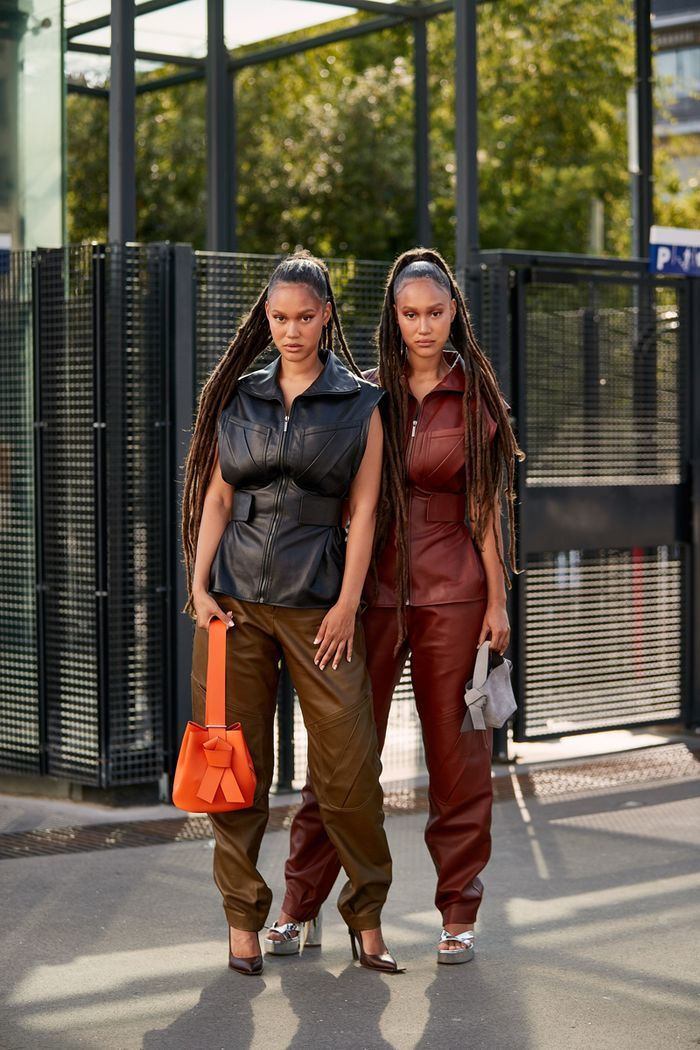 Fall 2019 fashion trends in Paris: leather-on-leather looks