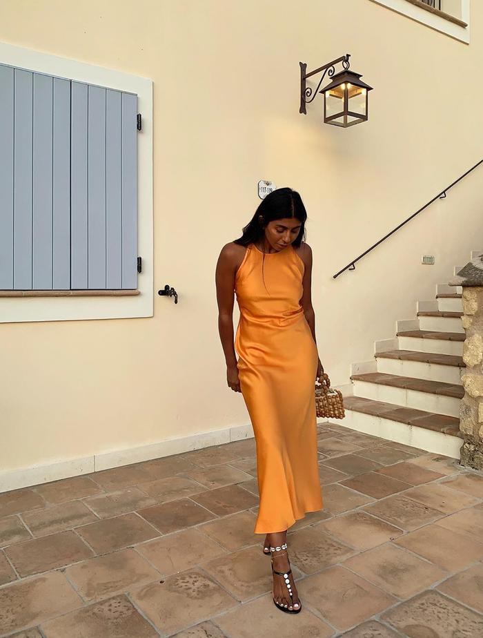 Influencer Summer Buys: Monikh Dale in a Rosetta Grey dress