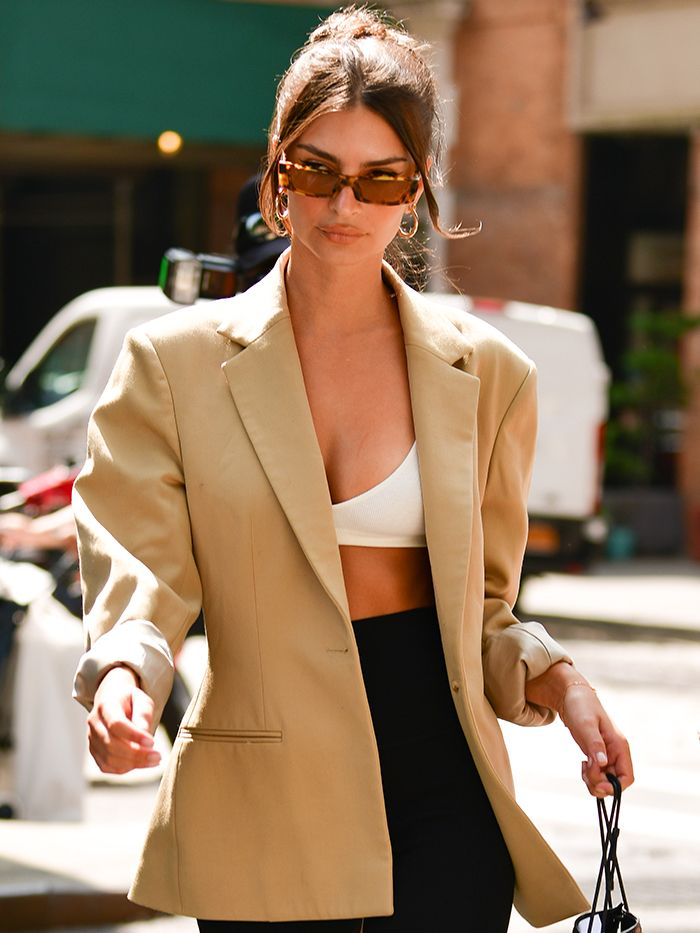 10 Ways Celebrities Are Wearing a Bra as a Shirt | Who What Wear
