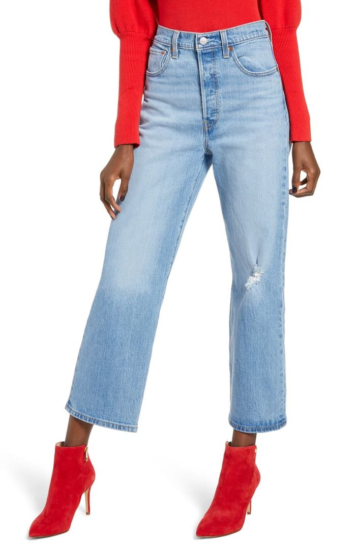 Levi's Ribcage Super High Waist Ankle Straight Leg Jeans