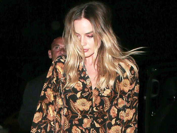 Margot Robbie Wore the Chicest Pajamas and Heels to Her Premiere After-Party