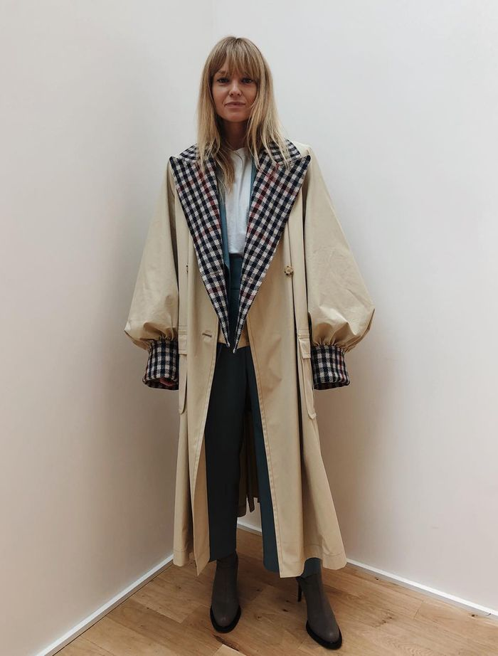 Autumn capsule wardrobe: JW Anderson trench coat