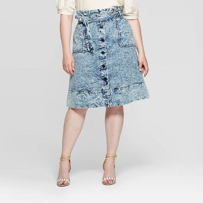 Who What Wear Mid-Rise Midi A Line Skirt