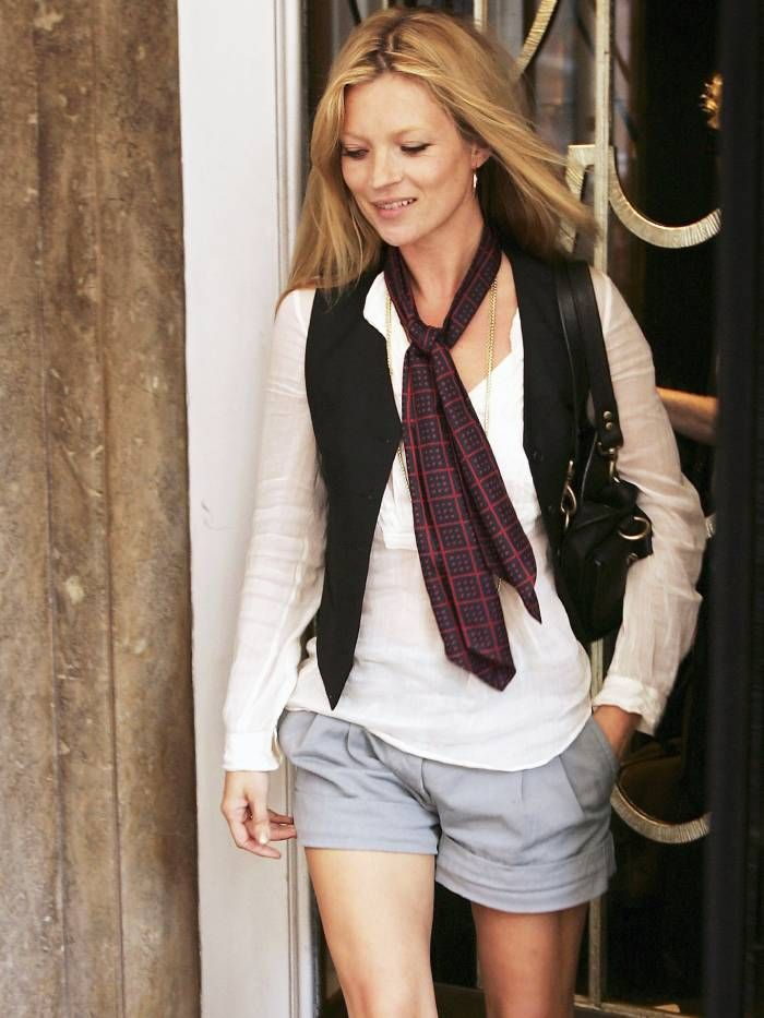 how to wear women's waistcoat trend: kate moss
