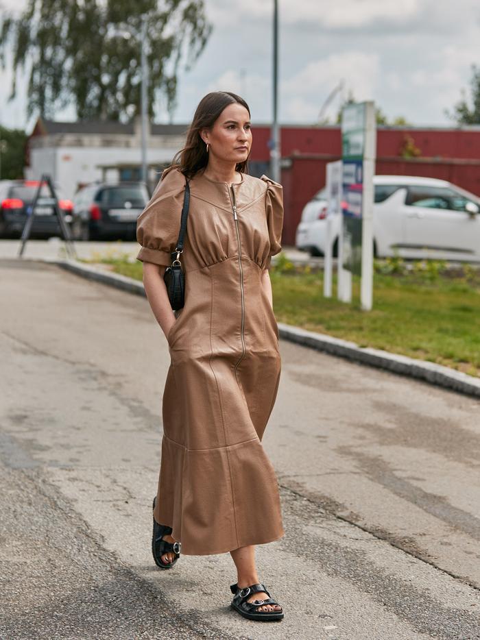 ASOS leather dress: