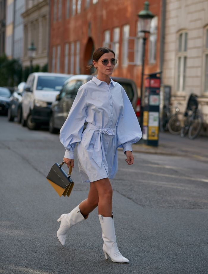 Scandi Shoe Trends: White cowboy boots at Copenhagen Fashion Week