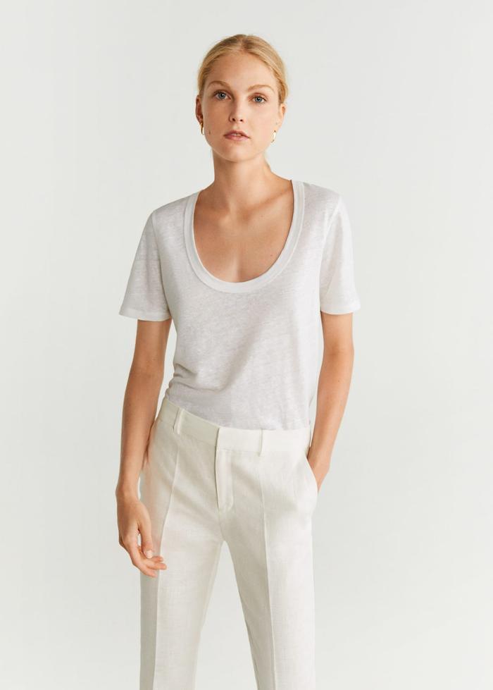 Mango Linen T-Shirt