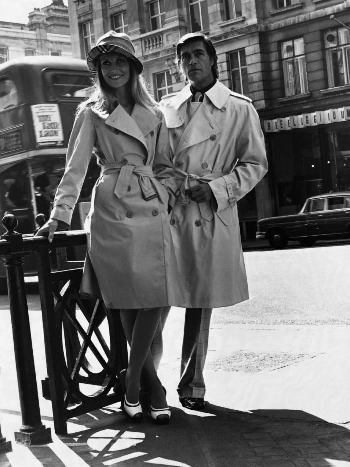 best burberry trench coat women: trench coats in the 60s